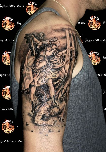 Warrior Angel Tattoos | archangel michael,angel tattoo,arxaggelos mixahl,warrior angel ...