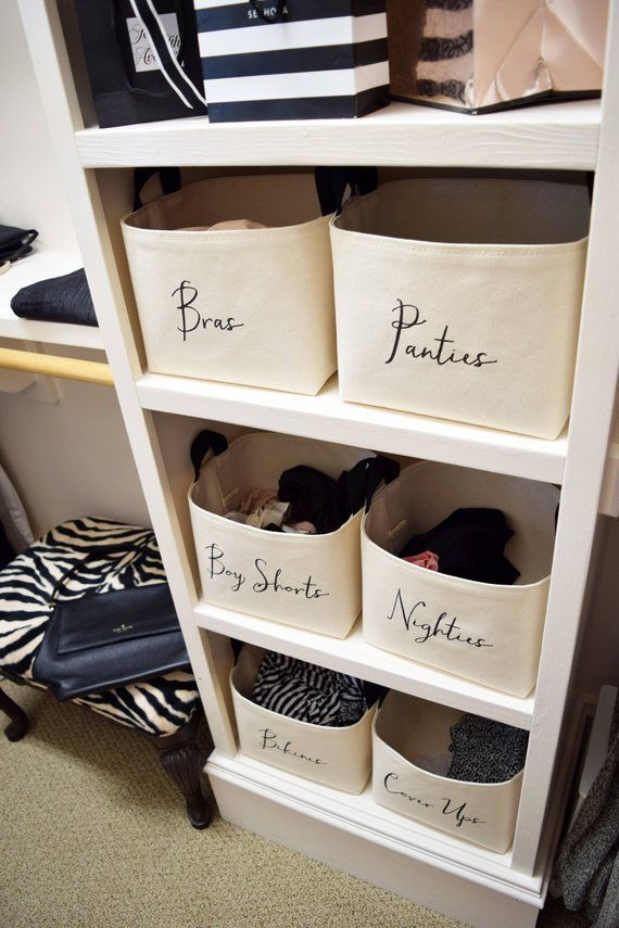 Can T Even Shut Your Over Stuffed Dresser Drawers Anymore Add Bins To Your Closet To Creat Custom Closet Organization Organization Bedroom Closet Storage Bins