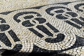 Typical portuguese pavement