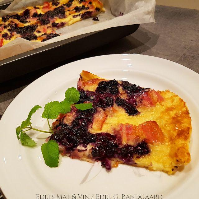 Edels Mat & Vin: Rustikk ovnspannekake med bacon og blåbær ♥