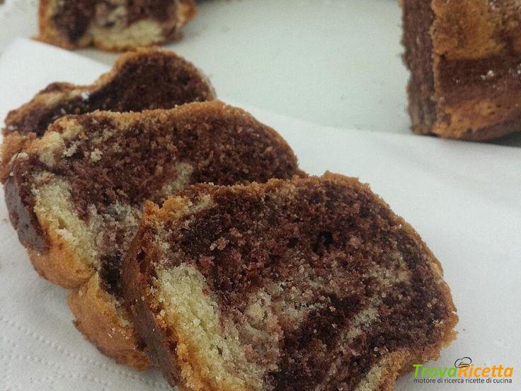Ciambella alla Panna marmorizzata – senza olio e burro!  #ricette #food #recipes