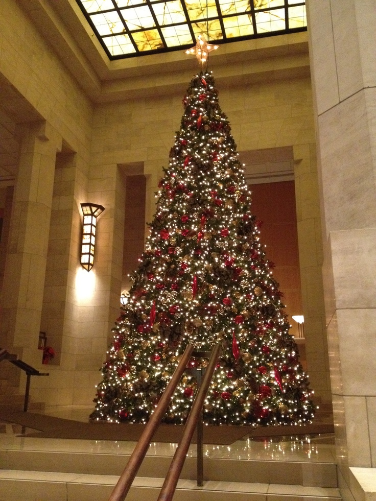 The Christmas Tree In The Lobby Of The Four Seasons Hotel In New York City  In November One Day I Will Spend Christmas In New York. Itu0027s At The Top Of  My ...