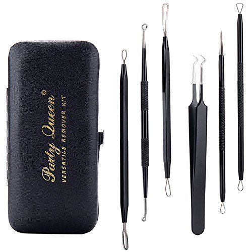 Party Queen Blackhead Remover Tool 6 Pcs Versatile Removal Kit Facial Extractor Treatment for Pimple Acne Comedone Blemish Whitehead Popping. For product & price info go to:  https://beautyworld.today/products/party-queen-blackhead-remover-tool-6-pcs-versatile-removal-kit-facial-extractor-treatment-for-pimple-acne-comedone-blemish-whitehead-popping/