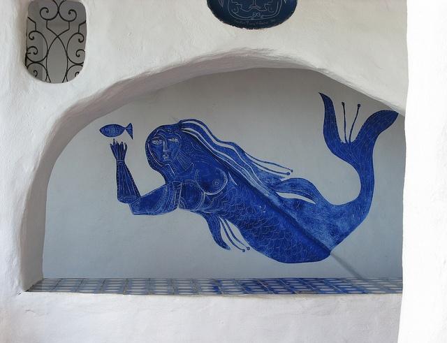 Lovely mermaid at Casapueblo, Punta del Este, Uruguay