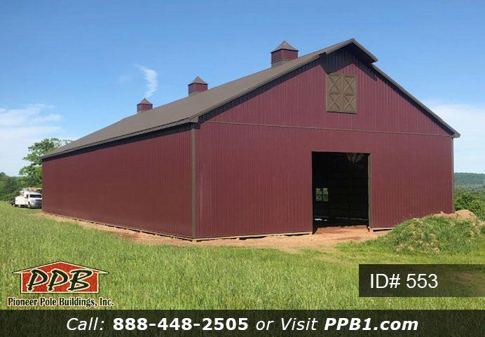 Big Burgundy Barn In 2020 Pole Buildings Metal Siding Building