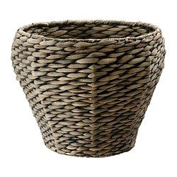 IKEA - DRUVFLÄDER, Plant pot, Handmade by a skilled craftsperson.A plastic inner pot makes the plant pot waterproof.