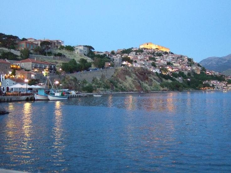 Molivos on the island of Lesvos, Greece