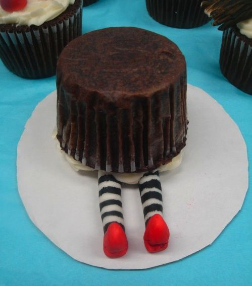 """""""Wicked Witch of the East"""" cupcake"""
