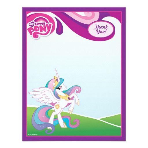 My Little Pony Princess Celestia Thank You 4.25x5.5 Paper Invitation Card