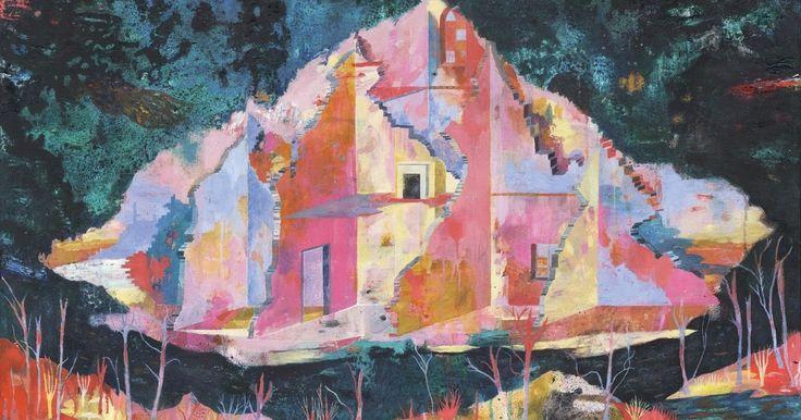 Ruins, Oil, acrylic and spray paint on canvas