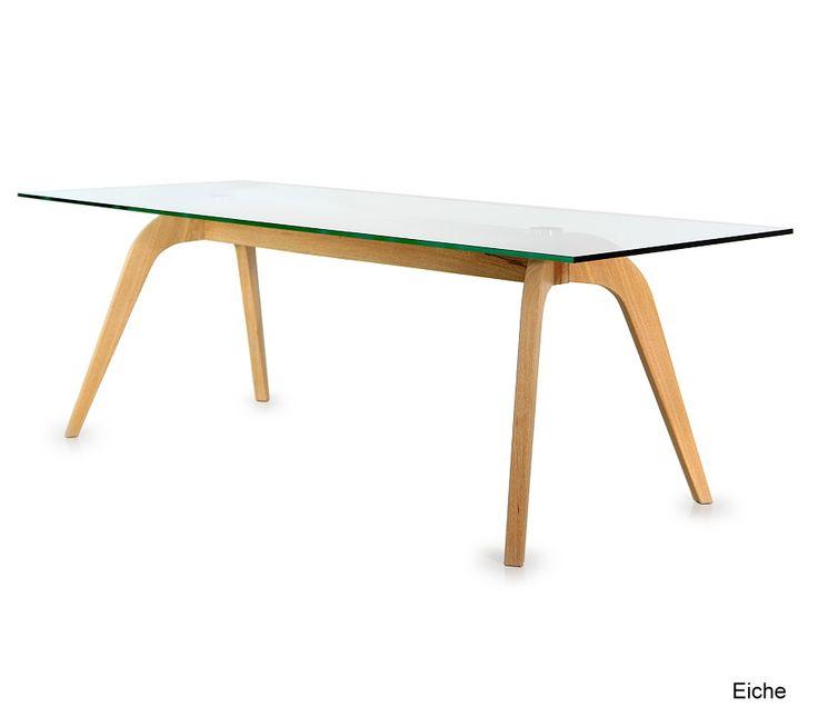 Esstisch Aus Massivholz Mit Glasplatte. Aus 40 Hölzern Wählen Sie Ihr  Lieblingsholz. Dazu Kombiniert