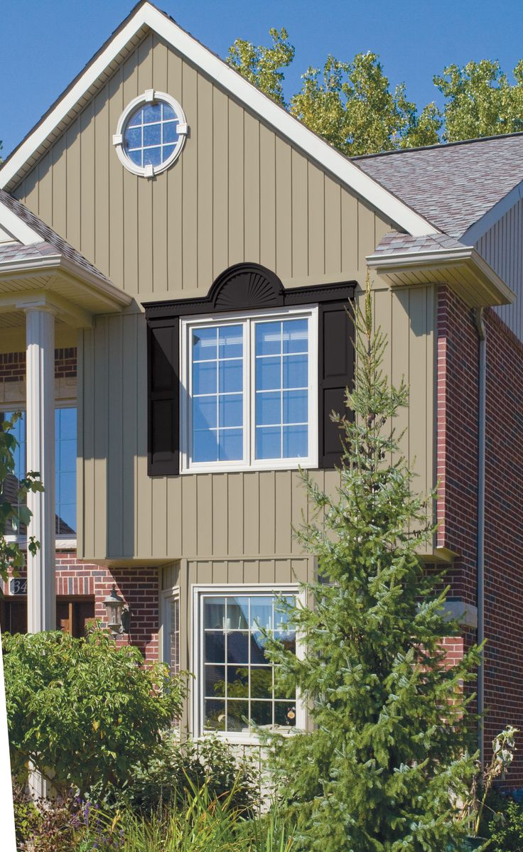 Add classic beauty and contemporary convenience to your for Exterior siding that looks like wood