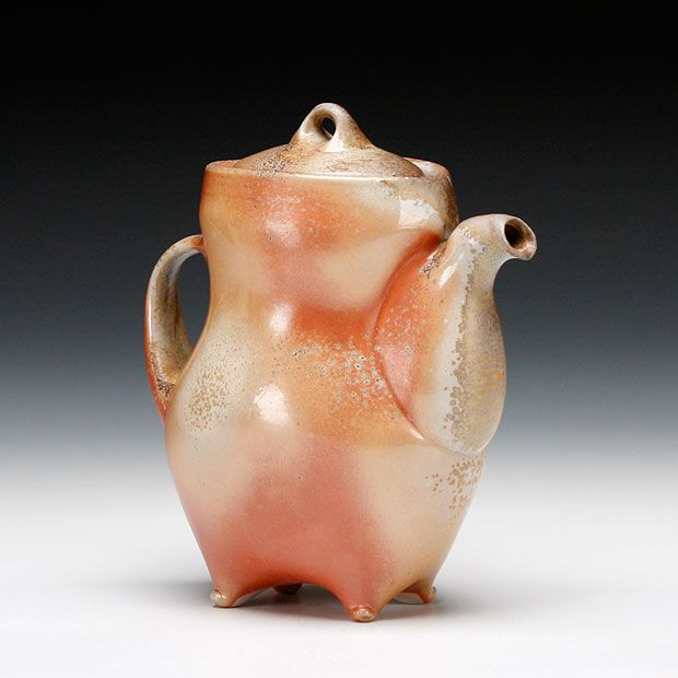 Tara Wilson - Teapot Wood fired stoneware with slip and glaze