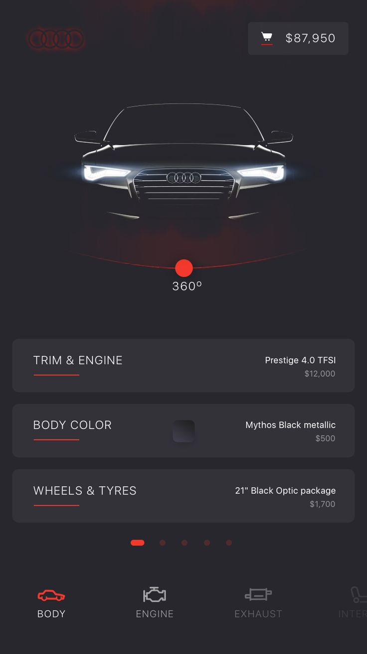 Car building app for Audi