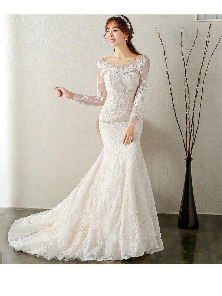 10 Best Long Sleeve Wedding Dresses Ball For Petite Brides In 2020 Wedding Dress Long Sleeve Elegant Long Sleeve Wedding Dresses Backless Lace Wedding Dress