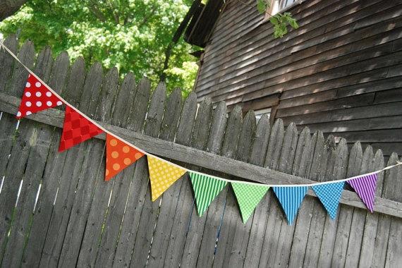 fabric rainbow banner