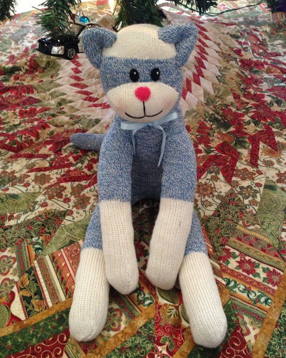 Child S Sock Cat Stuffed Animal