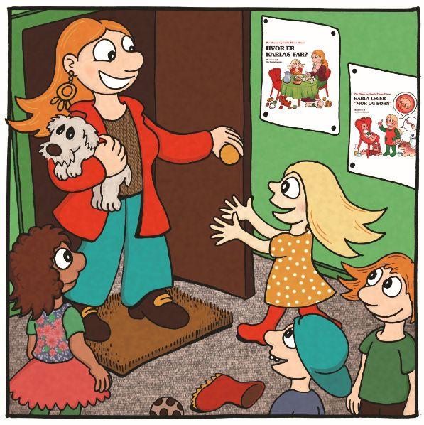 "At the kindergarten - children's book ""Karla ønsker sig en far"" 2015"