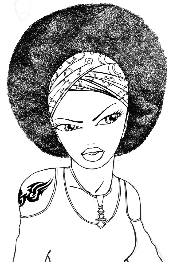 f african american coloring pages - photo #42