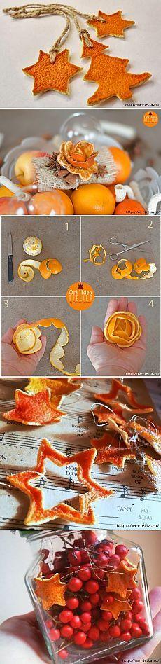 Украшения из корок апельсина и мандарина