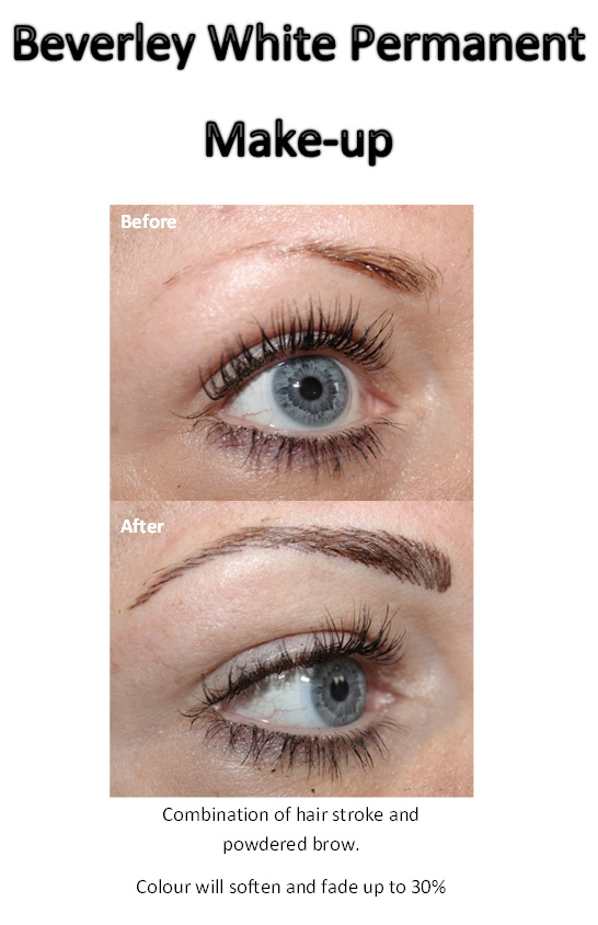 Beverley White Permanent makeup. Combination of hair