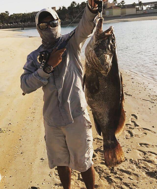 Kian on a good Grouper  #uaekayakfishingassociation #fishing #kayakangler #hobiefishing #hobie #seaangler #jigging #shimano #tailwalk #rods #reels #mydubai #picoftheday #uae #Cobia #prodigalson #lighttackle #jigpara #cool #adventure #species #sportfishing #trolling #dubaifishing #fishingdubai #barracuda #trevally #happy #safa #southafrican @hobiefishing