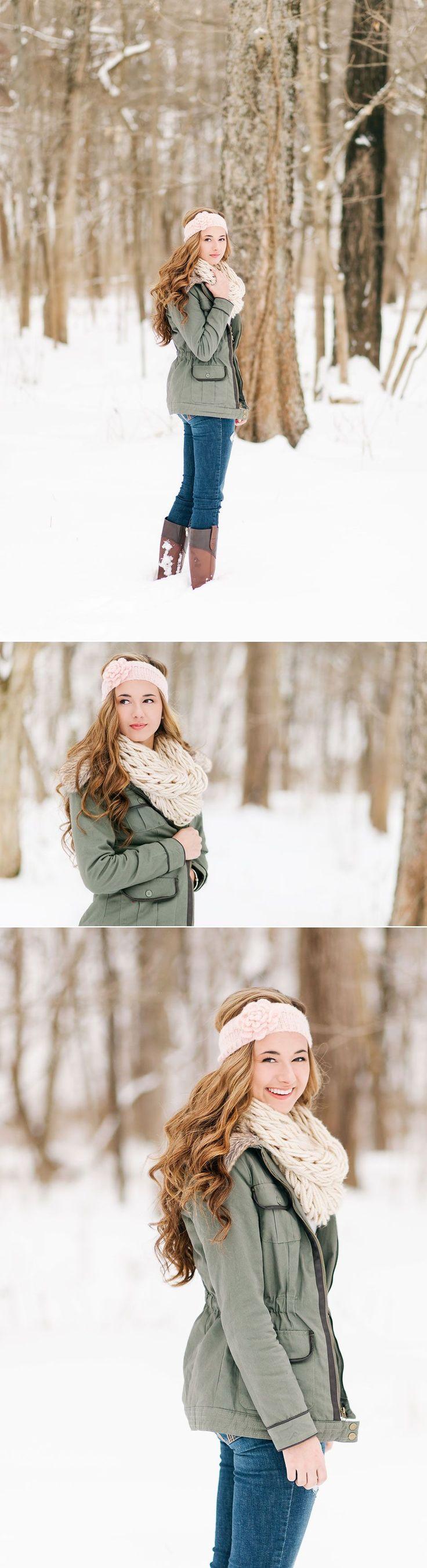 Lux Senior Photography - Snowy Senior Portraits in Bellbrook, Ohio #seniorphotography,