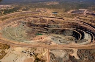 Orapa mine, Botswana. Discovered in 1972  One of the largest open pit diamond mines.
