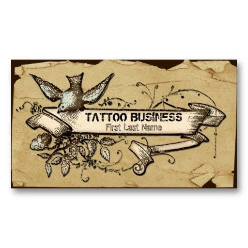 Best Tattoo Business Cards Images On Pinterest Picture - Tattoo business card templates