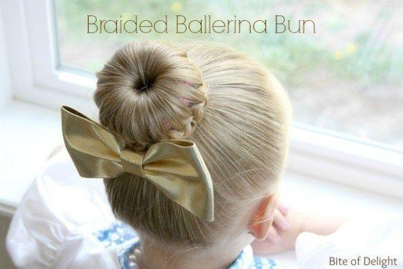 Braided Ballerina Bun | Hair Tutorial | Little Girl Hairstyles #SimpleHairstyleT…