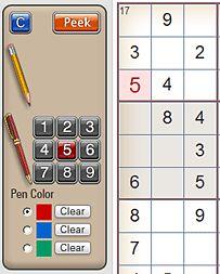 Play Sudoku online