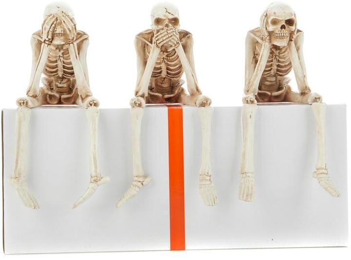 Set of 3 Halloween Skeleton Shelf-Sitters