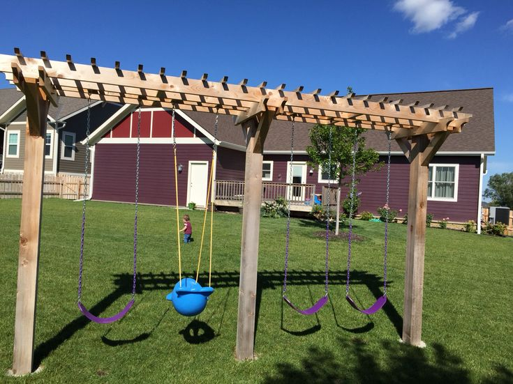 Pergola inspired Swing Set made by my hubby!