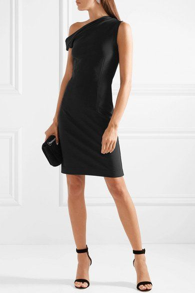 f9370efc381 BY MALENE BIRGER Dessa off-the-shoulder stretch-ponte classy dress ...