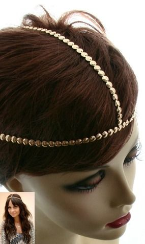 'NICOLE' URBAN GLAM GOLD HEADCHAIN