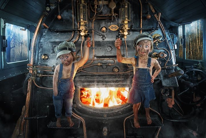Father Photoshops Three Daughters into Fantastical Scenes - Photographer John Wilhelm