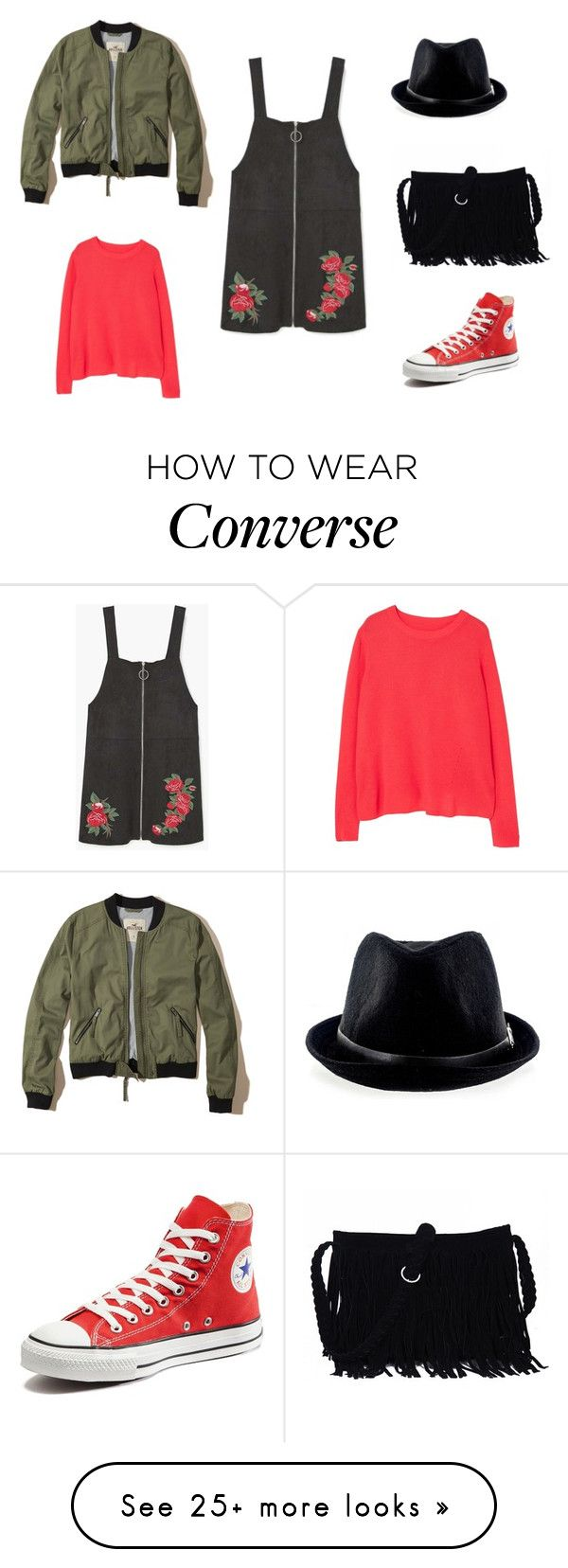 """""""LOOK CASUAL WEAR"""" by aliciagorostiza on Polyvore featuring MANGO, Converse and Hollister Co."""