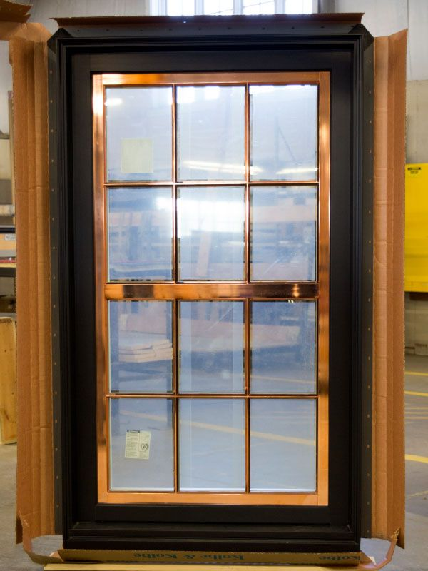 This Tilt Turn Sash Is Copper Plated While The Frame Is Coal Black The Wide Horizontal Pdl Bar Mimics A Do Double Hung Windows Window Trim Aluminium Cladding