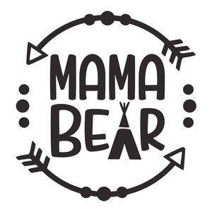 Silhouette Design Store: mama bear logo