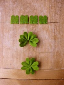 make a shamrock garland!! st. Patricks day decorations