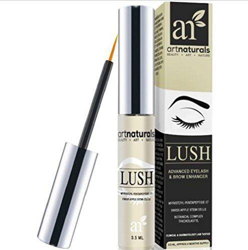 ArtNaturals Eyelash Growth Serum (3.5ml) - Thicker Longer Eyelashes & Eyebrows Enhancer with LUSH No Irritation Dermatologist Tested Product Revolutionary Pentapeptide-17 & Swiss Apple Stem Cells - http://buyonlinemakeup.com/goodly-by-maping-shop/artnaturals-eyelash-growth-serum-3-5ml-thicker-no-2