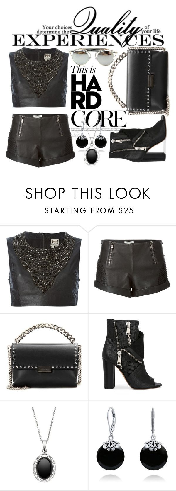 """""""Hard Core Leather"""" by mia-christine ❤ liked on Polyvore featuring Haute Hippie, Pierre Balmain, STELLA McCARTNEY, Casadei, Bling Jewelry, Chicnova Fashion, Leather and moods"""