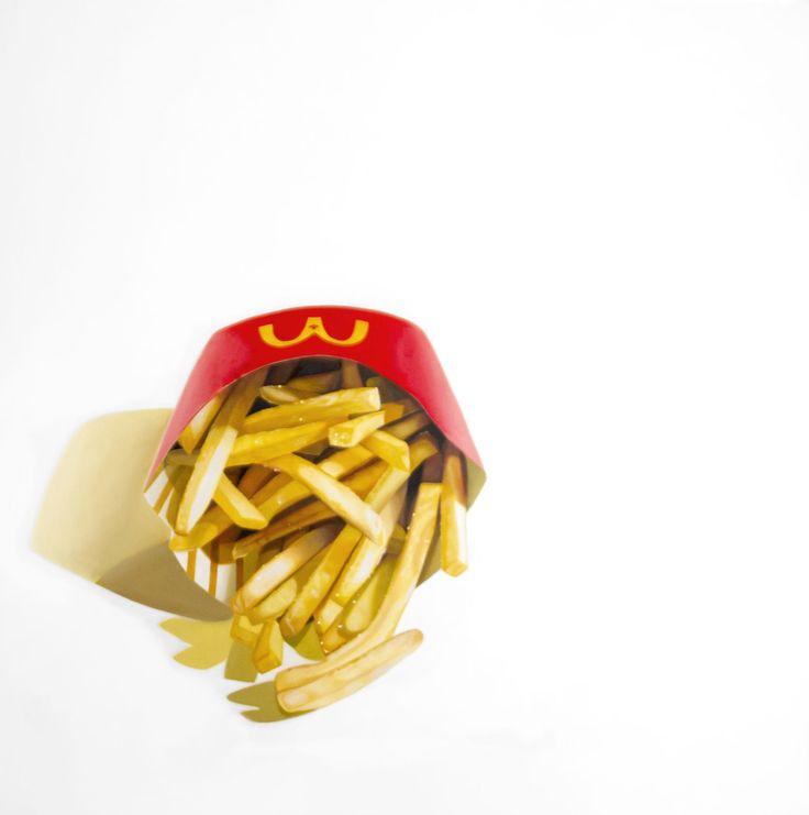 "ERIN ROTHSTEIN The Tasting Room- ""McDonald's"", 2016, Acrylic on canvas, 48 x 48 inches, 122 x 122 cm"