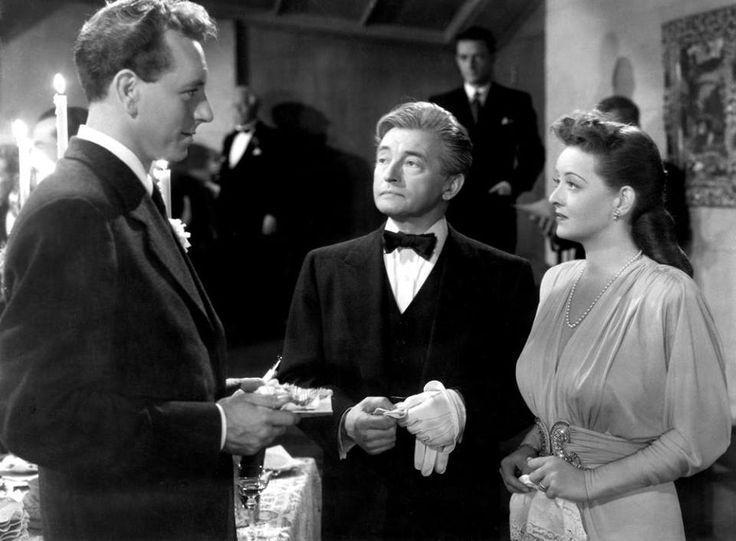 DECEPTION (1946) the famous wedding party scene - Paul Henreid, Claude Rains and Bette Davis.