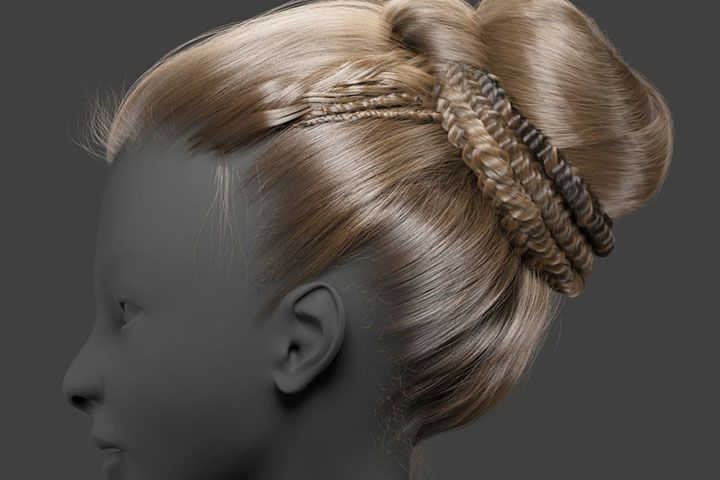 Learn how to create hairstyles for 3D chapters and portraits in Maya using Onratrix for braids, buns and other hairstyles.