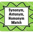 This fun activity will help your students creatively find 36 synonyms, 36 antonyms, and 12 homonym pairs by matching colorful eggs in a cup, chicks...