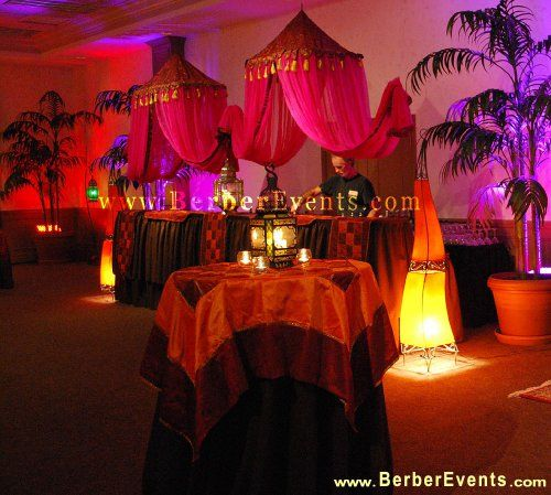 Debutante goes arabian nights moroccan theme at michael for Arabian party decoration ideas