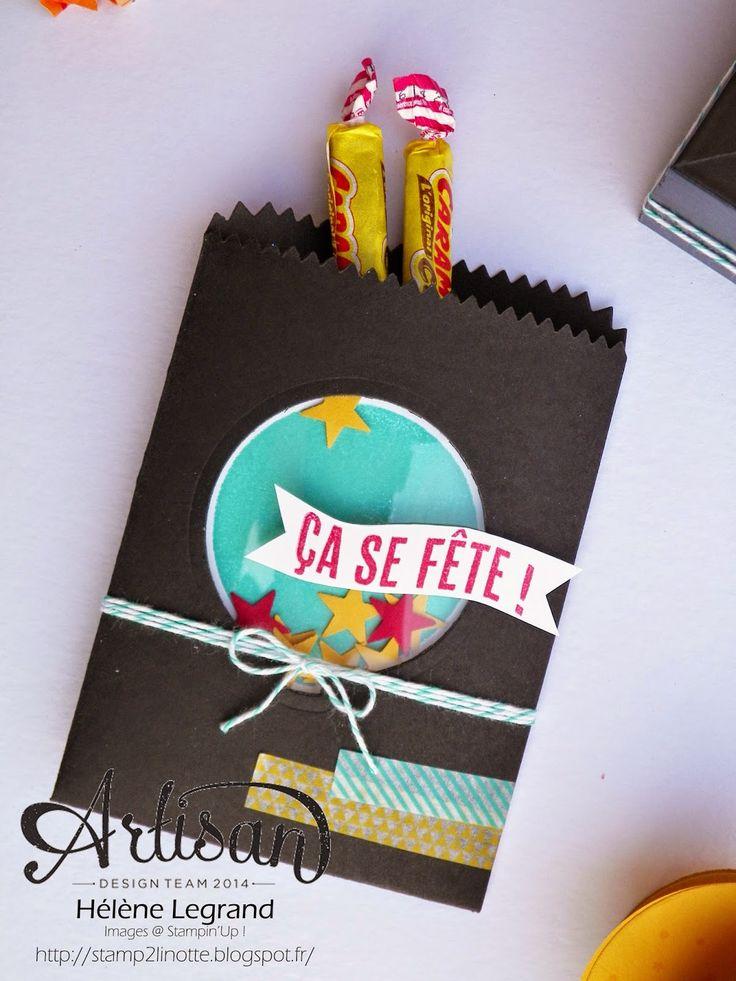 Mini treat bag thinlits dies - Stamp 2 LiNotte: Faire la fête - Stampin'Up ! Artisan Blog Hop - Janvier # 3