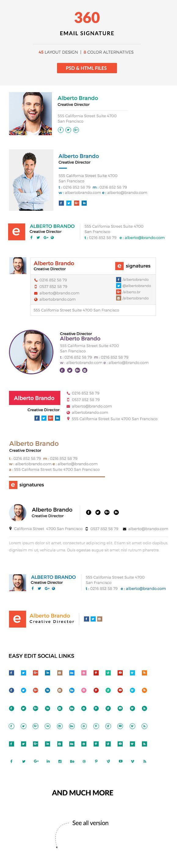 360 Email Signatures by CrazyThemes on @creativemarket
