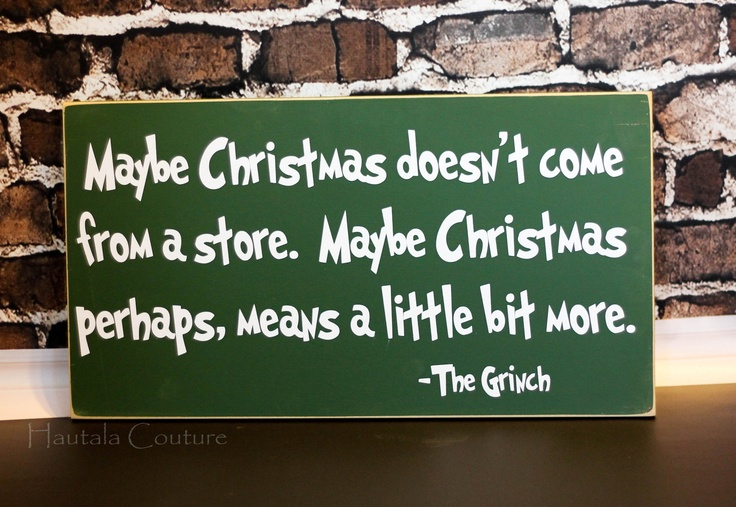 LOVE this Grinch Christmas Sign via @Trina {Hautala Couture} on Etsy!